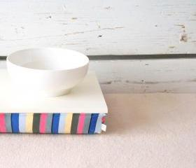 Borderless Laptop Lap Desk or iPad stand - Off White with Multicolor Lycra Pillow